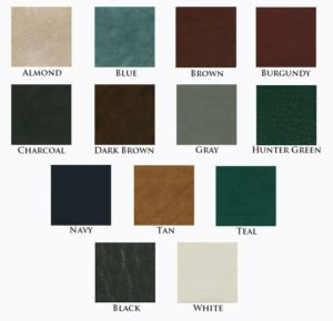spa covers color chart